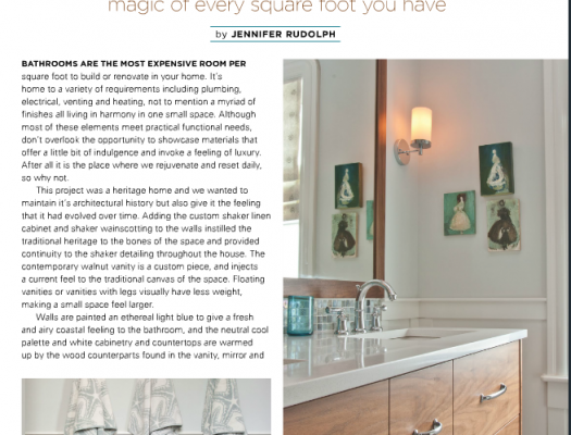 This Months October Issue Of Vancouver Home Decor I Decided To Write About One My Favourite Bathroom Renovations Done Last Year